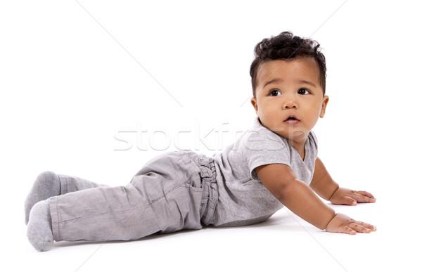 Lezser baba fiú fiatal visel gyermek Stock fotó © zdenkam