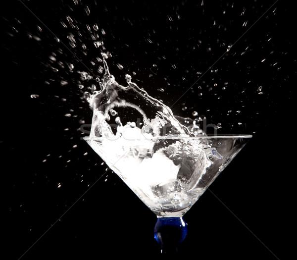 Zwarte water abstract achtergrond drinken Stockfoto © zdenkam