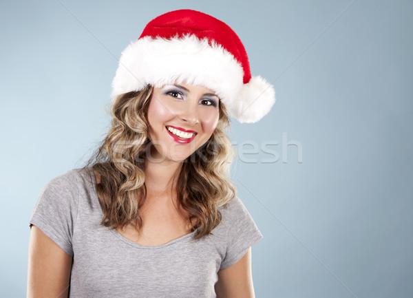 Рождества женщину довольно Hat Сток-фото © zdenkam
