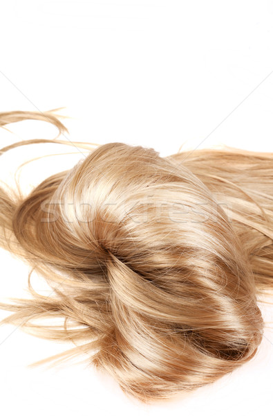 Saudável cabelo humanismo cabelo loiro branco isolado Foto stock © zdenkam