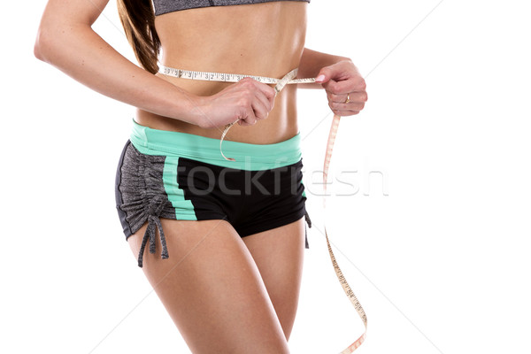 Femenino abdomen hermosa jóvenes caucásico atleta Foto stock © zdenkam
