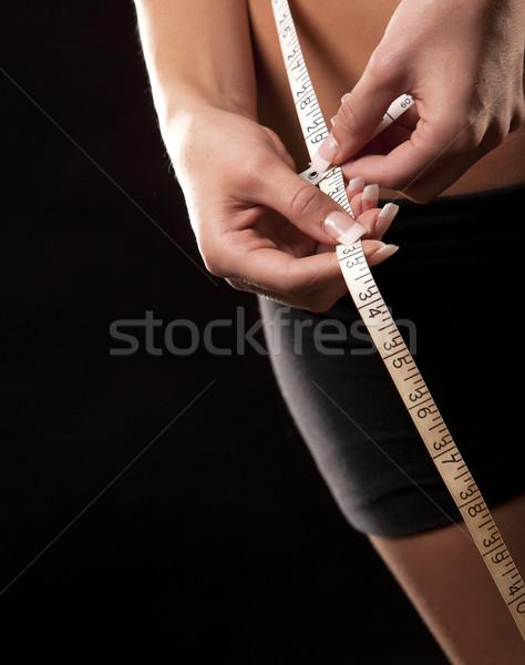 женщину талия фитнес модель черный Сток-фото © zdenkam