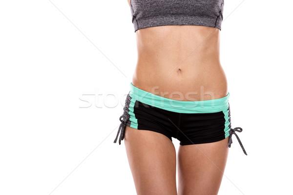 Weiblichen Abdomen schönen jungen Athleten Stock foto © zdenkam