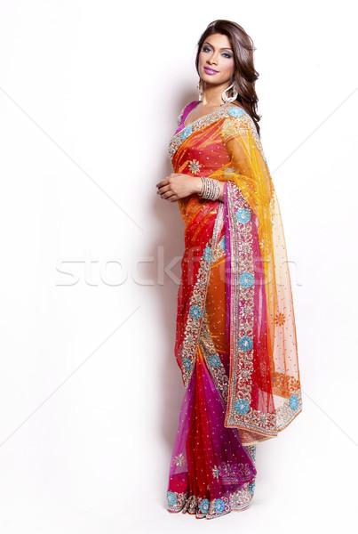 индийской женщину красивая женщина традиционный девушки Сток-фото © zdenkam