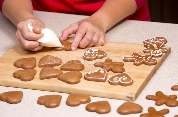 ginger bread cookies Stock photo © zdenkam