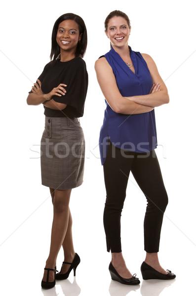 два бизнеса женщины две женщины служба Сток-фото © zdenkam