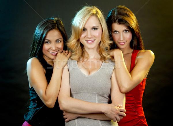 группа женщины вечеринки красивой три Сток-фото © zdenkam