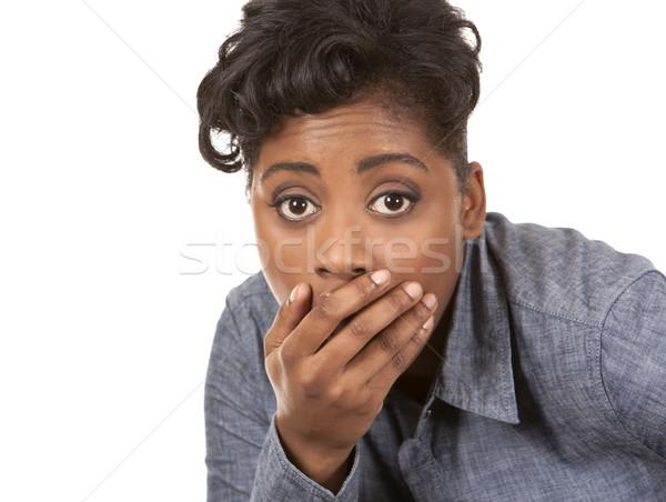 shocked woman Stock photo © zdenkam