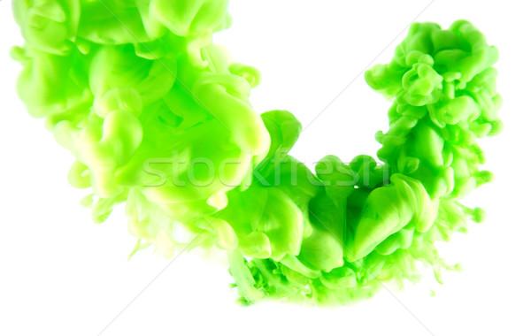 зеленый аннотация искусства чернила белый изолированный Сток-фото © zdenkam
