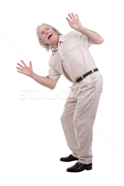 Mann weiß Senior posiert Stock foto © zdenkam
