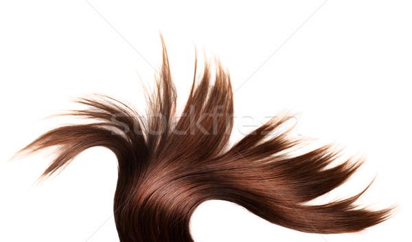 Сток-фото: здорового · волос · человека · белый · изолированный