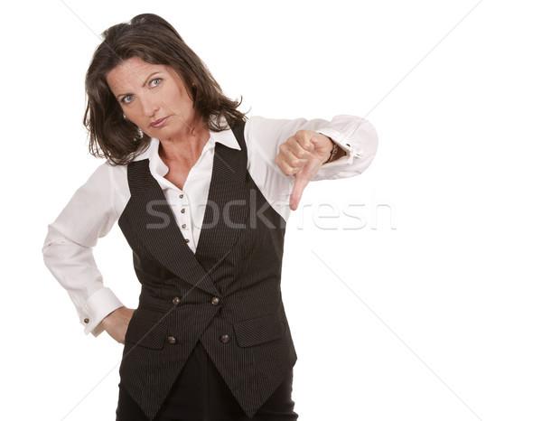 Mujer de negocios abajo blanco fondo Foto stock © zdenkam