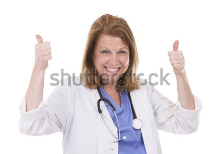 Kaukasisch arts witte vrouw artsen Stockfoto © zdenkam