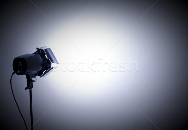 Studio lumière vide flash gris technologie Photo stock © zdenkam