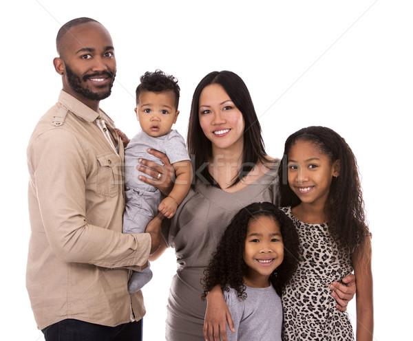 Kisebbségi lezser család fiatal vegyes fehér Stock fotó © zdenkam