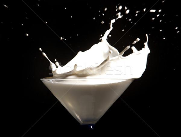 Leite salpico branco preto abstrato fundo Foto stock © zdenkam