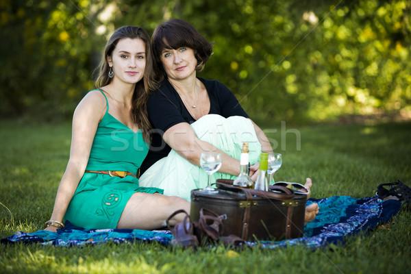 Mãe filha caucasiano juntos parque amor Foto stock © zdenkam