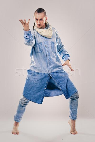 мужчины современный хип-хоп танцовщицы джинсовой кавказский Сток-фото © zdenkam