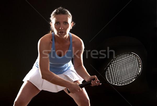 tennis woman Stock photo © zdenkam