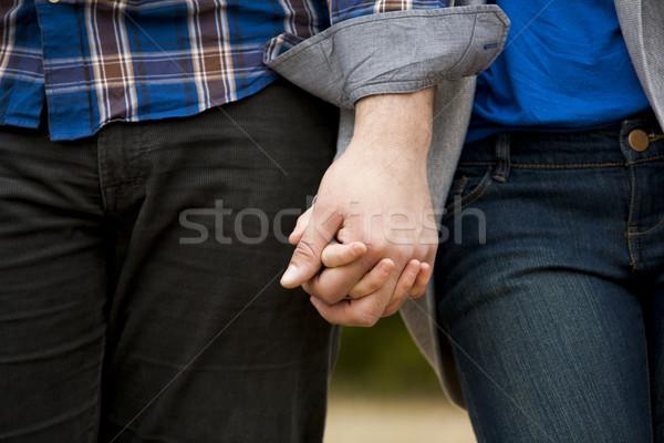 Lezser pár fiatal pér visel lány kezek Stock fotó © zdenkam