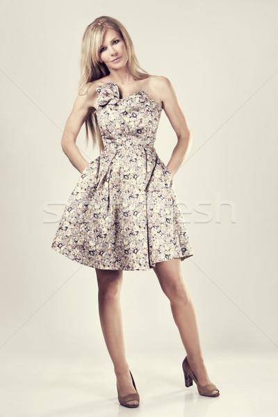 моде женщину красивой Сток-фото © zdenkam