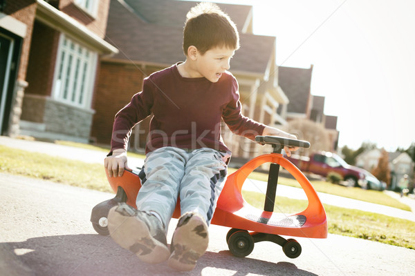 мальчика верховая езда небольшой игрушку Сток-фото © zdenkam
