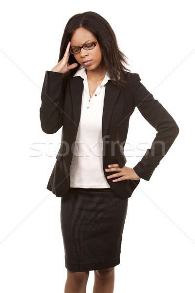 Photo stock: Femme · d'affaires · maux · de · tête · belle · femme · affaires · femme