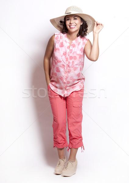лет женщину красивая женщина розовый девушки Сток-фото © zdenkam