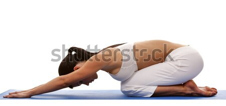 woman and yoga Stock photo © zdenkam