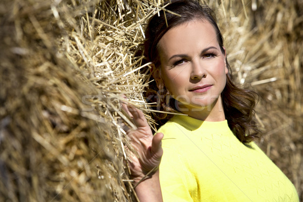 женщину желтый осень моде Сток-фото © zdenkam