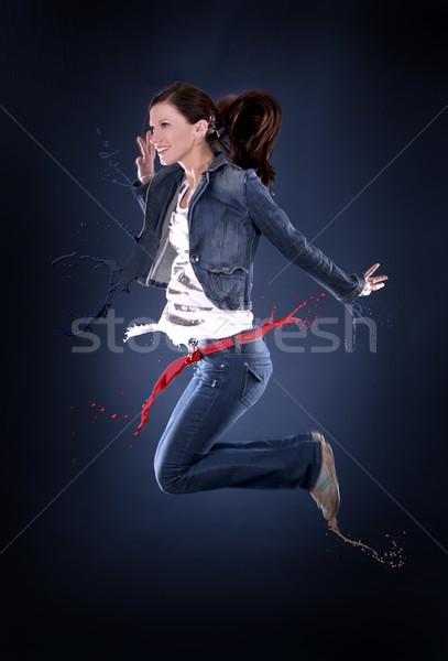 Перейти танцовщицы красивой темно Dance Сток-фото © zdenkam