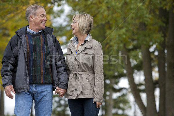 mature couple outdoors Stock photo © zdenkam