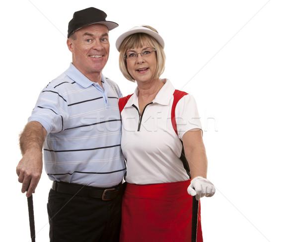 Stock photo: golf couple