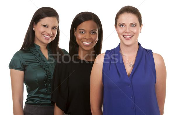 три бизнеса женщины группа служба Сток-фото © zdenkam