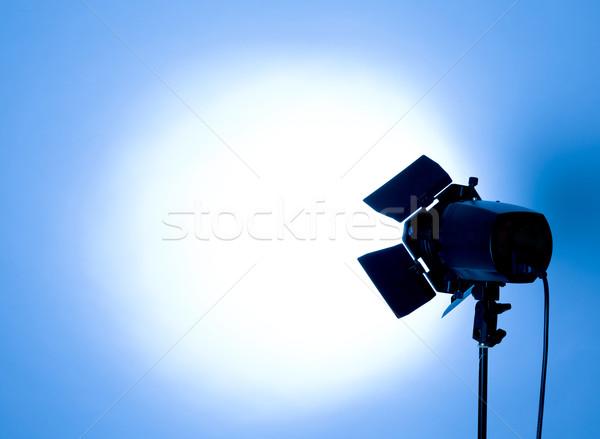 Stüdyo ışık boş flaş açık mavi teknoloji Stok fotoğraf © zdenkam