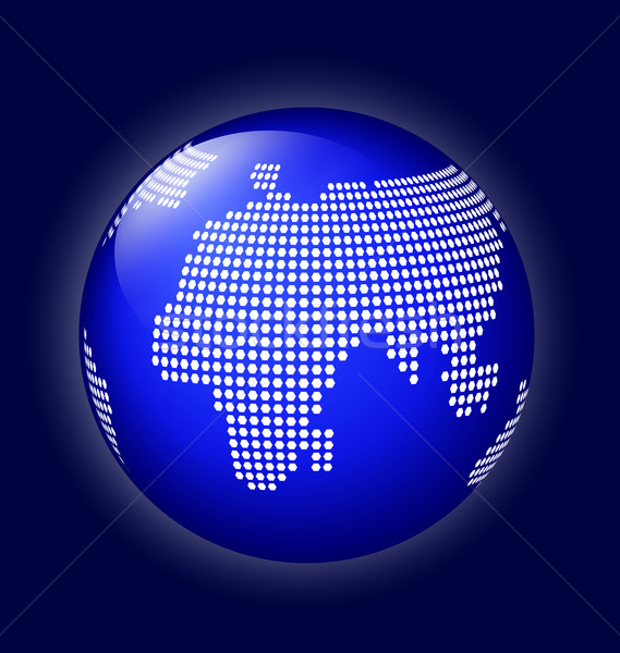 Blue globe with dotted map vector Stock photo © Zebra-Finch