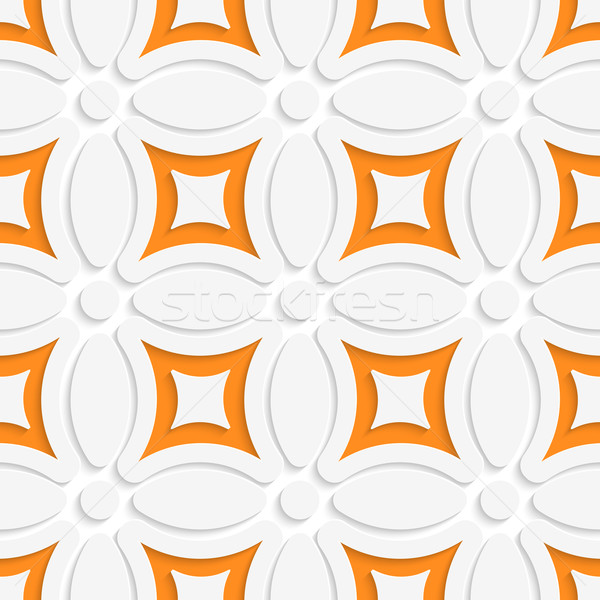 Geometric white pattern with orange Stock photo © Zebra-Finch