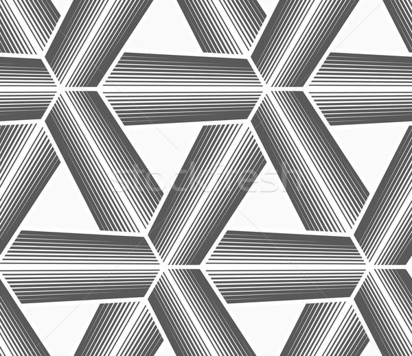 モノクロ ハーフトーン 縞模様の 白 グリッド シームレス ストックフォト © Zebra-Finch