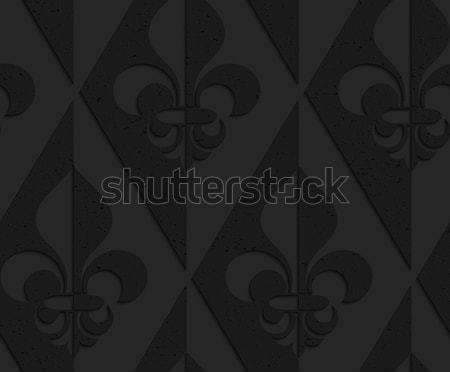 Nero plastica solido abstract geometrica Foto d'archivio © Zebra-Finch