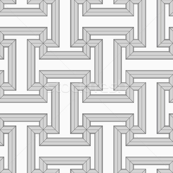 Szary pasiasty elegancki geometryczny Zdjęcia stock © Zebra-Finch