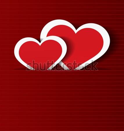 Kâğıt kalpler cep iyon kırmızı Stok fotoğraf © Zebra-Finch