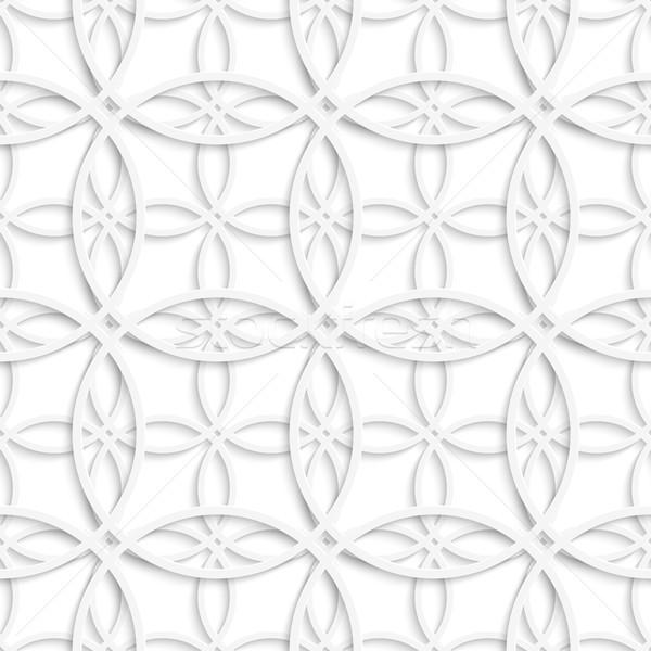 Simple intersecting layered circles seamless Stock photo © Zebra-Finch