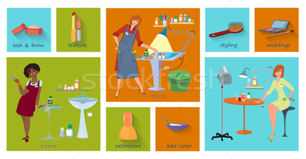 Salon usługi następny strona projektu Zdjęcia stock © Zebra-Finch