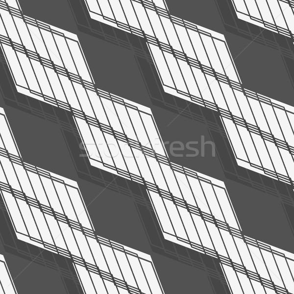 Monokróm minta fehér csíkos átló fonatok Stock fotó © Zebra-Finch