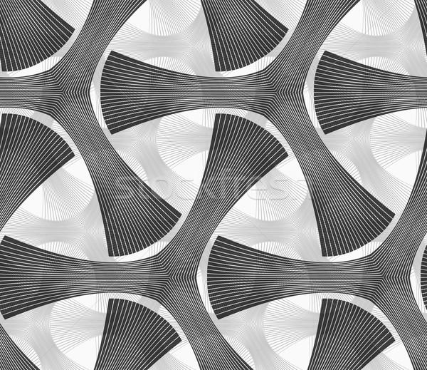 Monocromo oscuro a rayas sin costura patrón geométrico gris Foto stock © Zebra-Finch