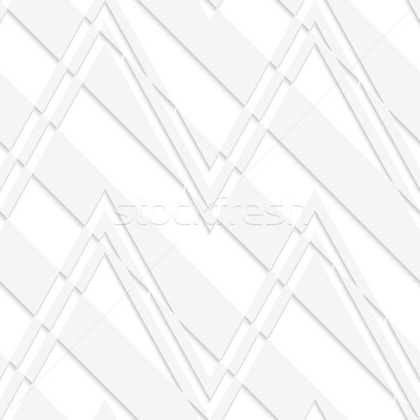 白 3D 縞模様の ジグザグ 幾何学的な 現代 ストックフォト © Zebra-Finch