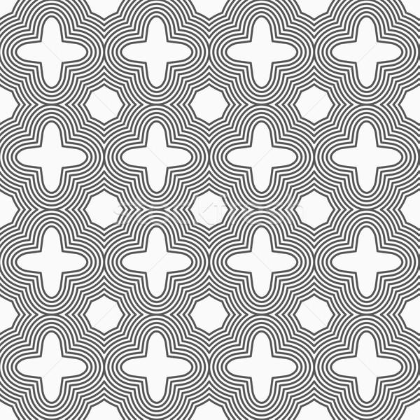 Slim gray four foils with offset merging Stock photo © Zebra-Finch