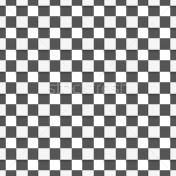 Geometrik model beyaz siyah kareler Stok fotoğraf © Zebra-Finch