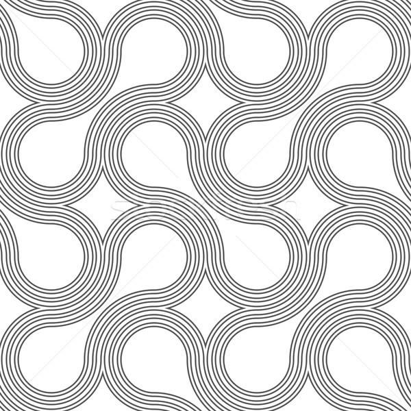 Gri süs şık geometrik Stok fotoğraf © Zebra-Finch