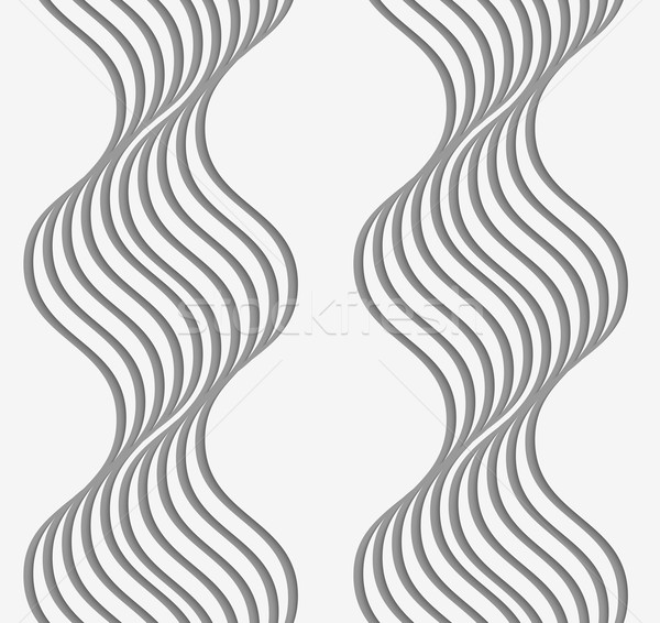 Stock photo: Perforated paper with wavy stripes